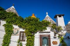 Alberobello Z Trulli domami - Apulia, Włochy Zdjęcie Royalty Free
