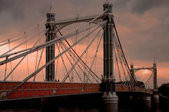 Albert-Brücke lizenzfreies stockfoto