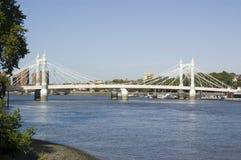 Albert-Brücke, Battersea, London Lizenzfreie Stockbilder