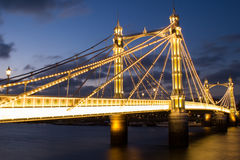 Albert-Brücke London Lizenzfreie Stockfotografie