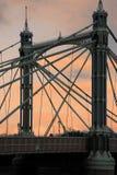 Albert-Brücke am Sonnenuntergang Lizenzfreie Stockbilder