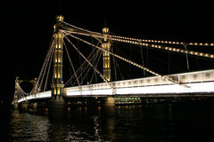 Albert Bridge. The albert Bridge at night in London Royalty Free Stock Photography