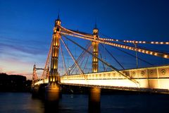 Albert Bridge. In london Royalty Free Stock Images