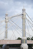 Albert Bridge; Chelsea; London Stock Image