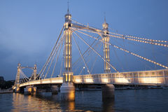 Albert Bridge ; Chelsea ; Londres Photos stock