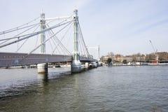Albert Bridge. During the day, London, UK Stock Image