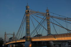 Albert Bridge en evning Fotos de archivo