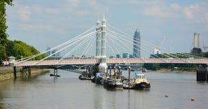Albert Bridge hermoso, Londres Reino Unido Foto de archivo libre de regalías