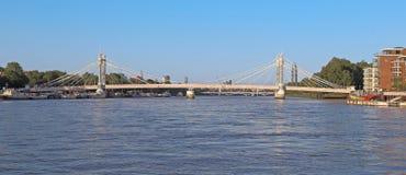 Albert Bridge, Londen stock afbeelding