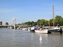 Albert Bridge in London stock image