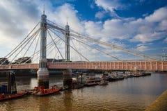 The Albert Bridge in London Stock Images