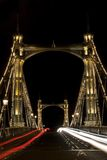 Albert Bridge in London. Night Stock Images