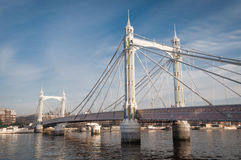 Albert Bridge, London, on a sunny day. Royalty Free Stock Photography