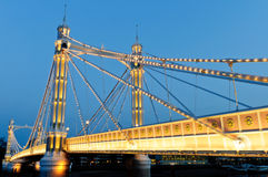 Albert bridge at night Stock Image