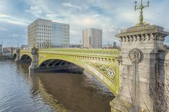 Glasgow Albert Bridge. The Albert bridge is one of many Glasgow Bridges that spans the River Clyde linking the cities north and south sides Royalty Free Stock Images