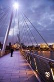 Albert Bridge på solnedgången Royaltyfri Foto
