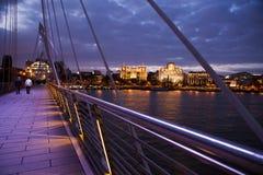 Albert Bridge på solnedgången Fotografering för Bildbyråer