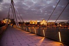 Albert Bridge på solnedgången Royaltyfri Bild