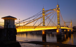 Albert Bridge at sunset. London Albert Bridge at sunset Royalty Free Stock Photos
