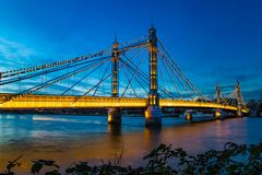 Albert Bridge West London England imagens de stock royalty free