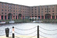 albert budynków historycznego dokują Liverpoolu Obraz Royalty Free