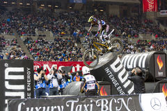 Albert Cabestany. Compete at Trial Indoor of Barcelona, on February 9, 2014, in Palau Sant Jordi stadium, Barcelona, Spain. Toni Bou was the winner Stock Image