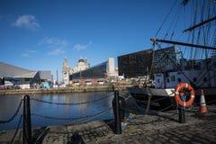 Albert Dock é um complexo de construções e de armazéns da doca em Liverpool, Inglaterra Imagem de Stock Royalty Free
