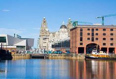 Albert dock. The albert dock tourist area in liverpool housing museums,apartments,shops,offices Stock Photos