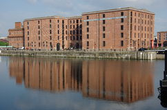 Albert dock. The albert dock mirror in th water Stock Photo