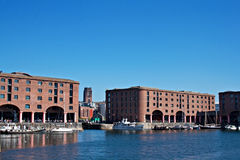 Albert Dock and Angkican Cathedral  Liverpool Stock Photo