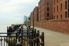 Albert Dock, bord de mer, à Liverpool au R-U Photo libre de droits