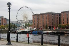 Albert Dock, bord de mer, à Liverpool au R-U Photos stock