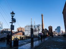 The Albert Dock in Liverpool Merseyside England Royalty Free Stock Photography