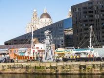 The Albert Dock in Liverpool Merseyside England Stock Photo