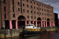 The Albert Dock is a complex of dock buildings and warehouses in Liverpool, England. Royalty Free Stock Image