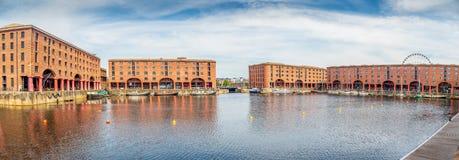Albert Dock in der Stadt von Liverpool stockbilder
