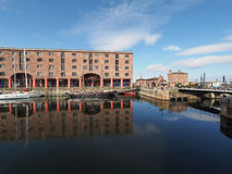 Albert Dock i Liverpool arkivfoto