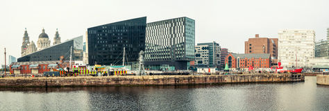 Albert Dock komplex i Liverpool, UK royaltyfri bild