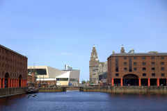 The Albert Dock in Liverpool Stock Photo