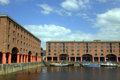 The Albert Dock in Liverpool Royalty Free Stock Photo