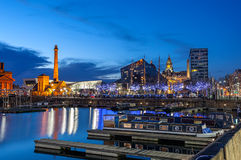 albert dock liverpool Royaltyfri Bild
