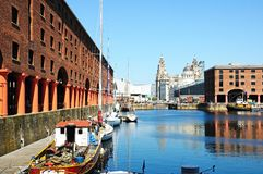 Albert Dock Liverpool royaltyfria foton