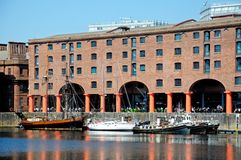Albert Dock Liverpool arkivfoto