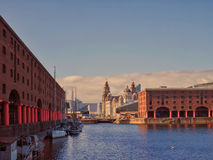 albert dock liverpool Arkivfoton