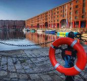 Albert Dock, Liverpool. In the early morning sunshine Stock Photos