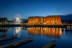 Albert dock, liverpool England. The Albert Dock is a complex of dock buildings and warehouses in Liverpool, England Stock Photos