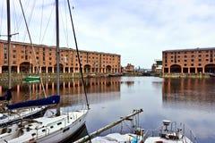 Albert Dock in Liverpool England. stock photography
