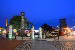 Albert dock Liverpool England stock image