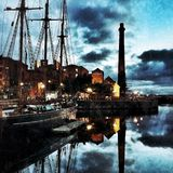 Liverpool Dockside royalty free stock photography