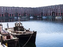 The Albert Dock in Liverpool Merseyside England Royalty Free Stock Images